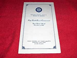 Winnipeg General School of Nursing: Program for Graduation Program, May 27, 1932