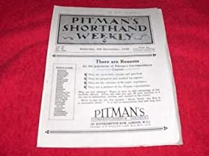 Pitman's Shorthand Weekly [December 6, 1930]