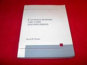 Canadian Business Law : Cases and Documents