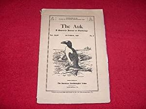 The Auk : A Quarterly Journal of Ornithology [Vol. XLIV, October 1927, No. 4]