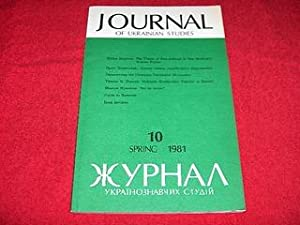 Journal of Ukrainian Studies [10: Spring 1981]