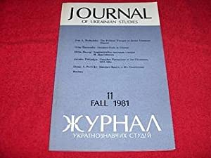 Journal of Ukrainian Studies [11: Fall 1981]