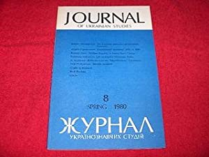 Journal of Ukrainian Studies [8: Spring 1980]