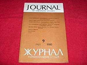 Journal of Ukrainian Studies [9: Fall 1980]