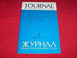 Journal of Ukrainian Studies [4: Spring 1978]