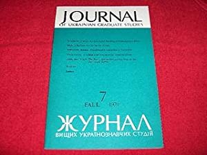 Journal of Ukrainian Studies [7: Fall 1979]