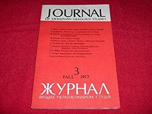 Journal of Ukrainian Studies [3: Fall 1977]