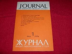 Journal of Ukrainian Studies [1: Fall 1976]