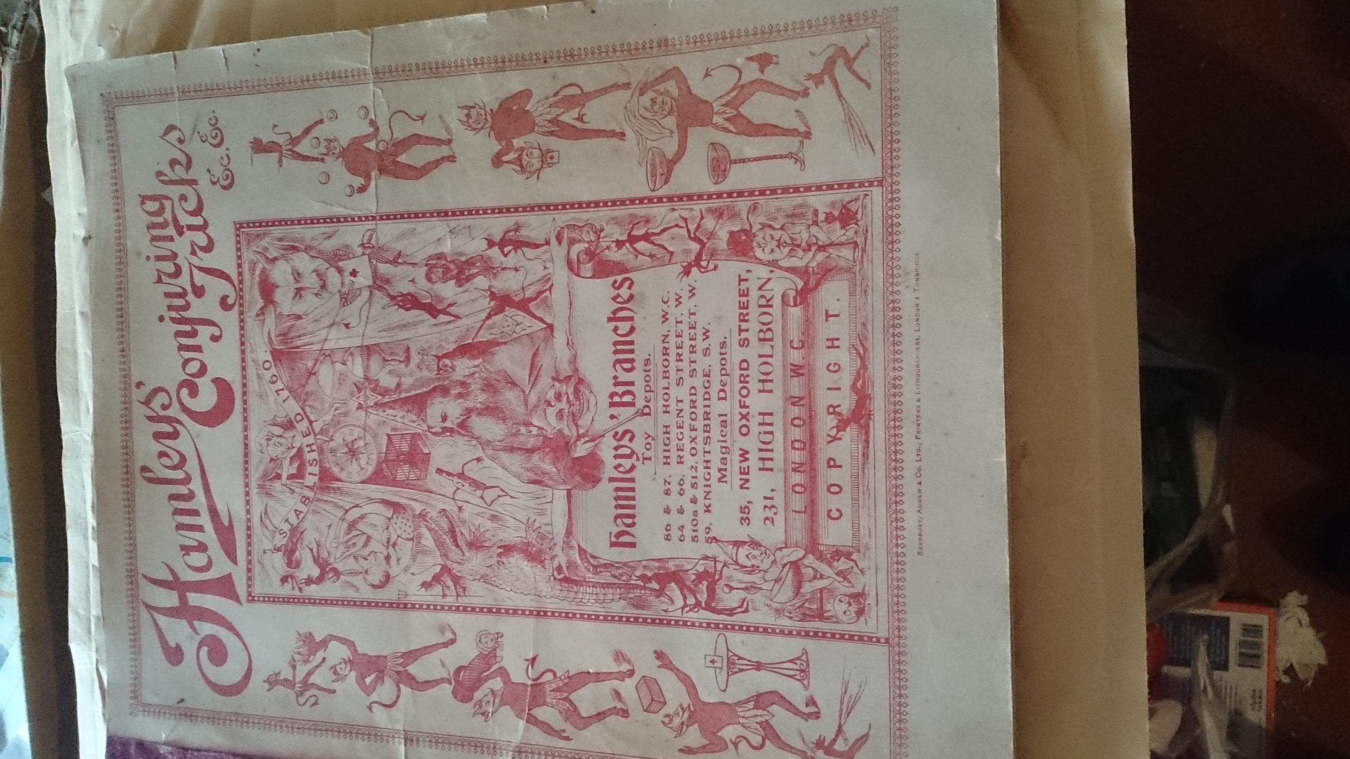 Hamleys Illustrated Catalogue of Conjuring tricks magical apparatus ingenious puzzles etc Good Softcover