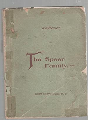 Reminiscences of the Speer Family: Speer, John Grove