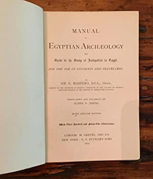 Manual of Egyptian Archeology: G. Maspero