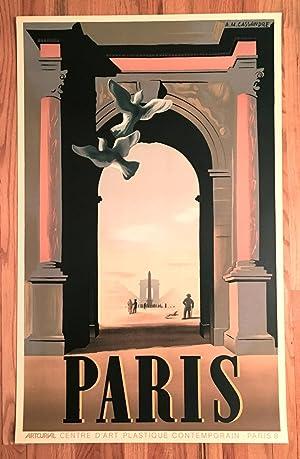 """Cassandre Poster: """"PARIS"""": A. M. Cassandre"""