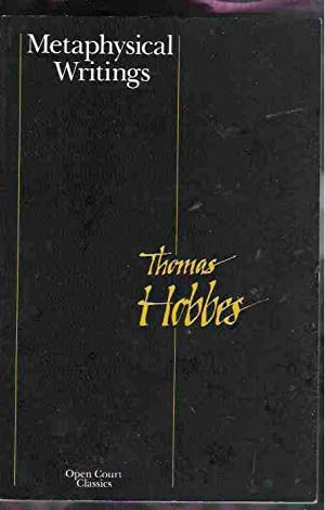 Metaphysical Writings: Hobbes, Thomas edited