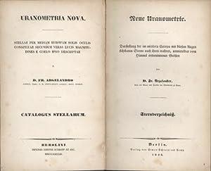Uranometria nova . . . Neue Uranometrie. Text vol. (star catalogue) only: Argelander, Fr