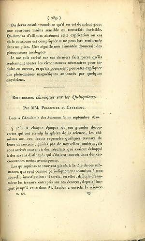 Recherches chimiques sur les quinquinas: Pelletier, Pierre Joseph