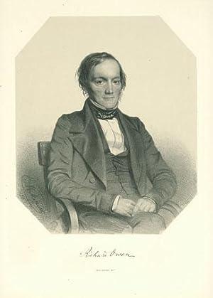 Lithograph portrait by T. H. Maguire: Owen, Richard