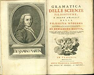 Gramatica delle scienze filosofiche: Martin, Benjamin