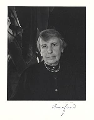 Fine portrait photograph by Imogen Cunningham, signed by the photographer and by Anna Freud: Freud,...