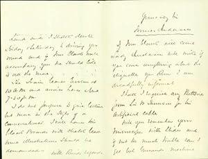 Autograph letter signed to Latimer Clark: Alexander, James