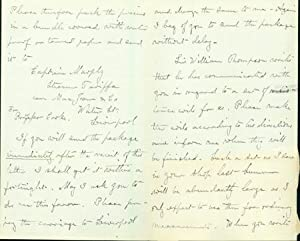Autograph letter signed to O. Becker: Cooke, Josiah Parsons