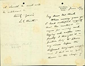Autograph letter signed to Latimer Clark: Heath, Leopold