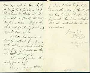 Autograph letter signed to Latimer Clark: Tait, Peter Guthrie