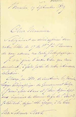 Autograph letter signed to Latimer Clark: Vinchent, Julien