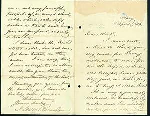 Autograph letter signed to Latimer Clark: Ricardo, John Lewis