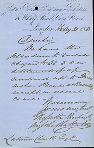 Autograph letter signed to Latimer Clark: Chatterton, John