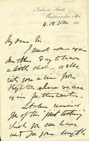 Autograph letter signed to Latimer Clark: Whitehouse, Edward Orange Wildman