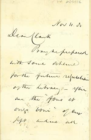 Autograph letter signed to Latimer Clark: Preece, William Henry