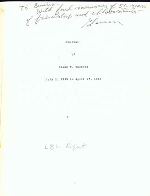 Journal of. 2 vols. Presentation inscription to Segre in Vol. 2, with 10 offprints, 3 with ...