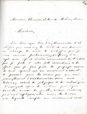 Crush-paper copy of book of his correspondence from Sept. 1862 to July 1865 (c. 600 letters): Hirn,...