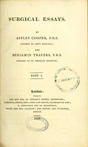 Surgical essays.: Cooper & Travers