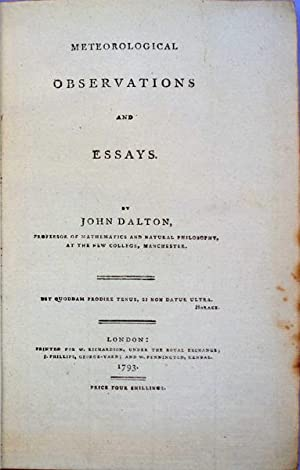 Meteorological observations and essays: Dalton, John