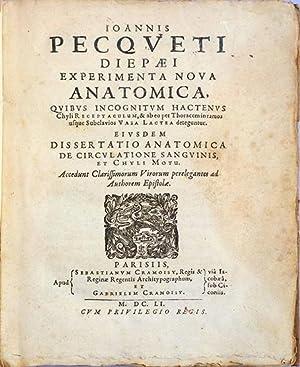 Experimenta nova anatomica: Pecquet, Jean