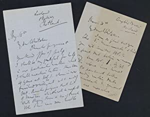 2 autograph letters signed to Whitaker: Millais, J. G.