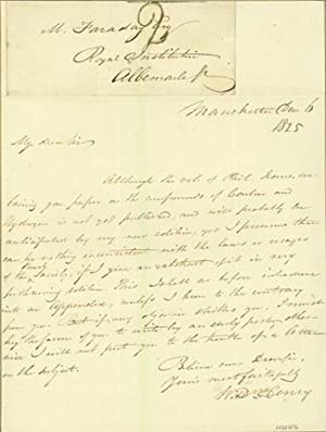 Autograph letter signed to Michael Faraday: Henry, William