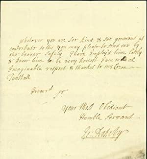 "Autograph letter signed to ""my cozen Tunstall,"" most likely Bishop Cuthbert Tunstall: ..."