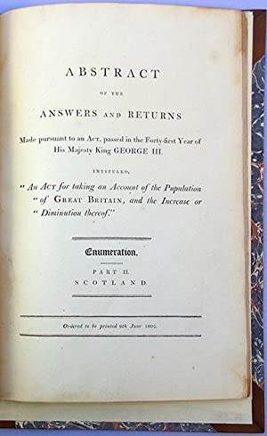 Abstract of the answers and returns made pursuant to an act, passed in the forty-first year of His ...
