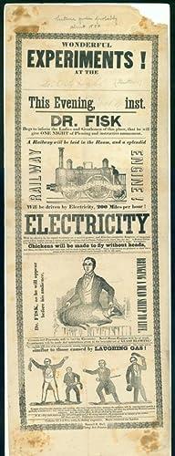Wonderful experiments! . . . Electricity . . . [Broadside]: Electricity