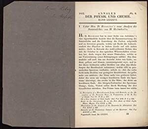 21 Offprints on physics, acoustics, microscopy, etc., from the Carl Ludwig collection: Helmholtz, ...