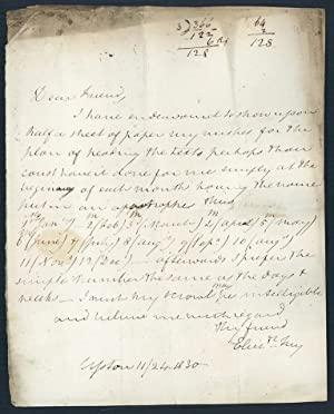 Two autograph letters signed to Richard Taylor: Fry, Elizabeth