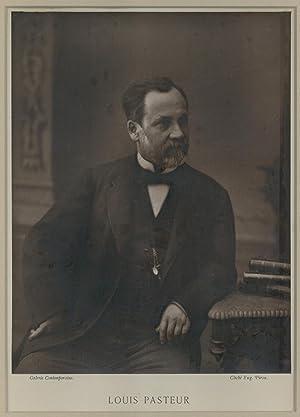 Portrait photograph by Eugene Pirou. Framed: Pasteur, Louis