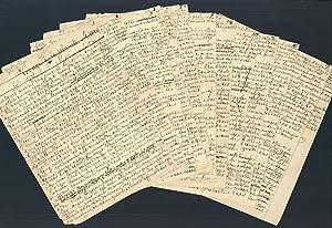Voyage à la planète Mars. Autograph manuscript in French, signed by Flammarion on last leaf: ...
