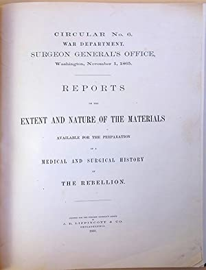 Circular no. 6 . Reports on the extent and nature of the materials available for the preparation of...