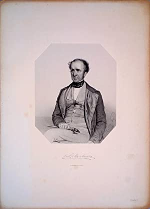 Portrait lithograph by J. H. Maguire, signed and dated 1849 in the plate: Roderick Impey Murchison