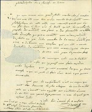 Autograph letter signed: Deveze, Jean