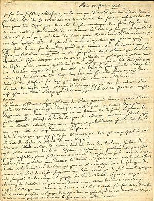 Autograph letter signed: Pasumot, Francois