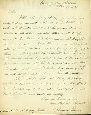Autograph letter signed, plus portrait: Place, Francis